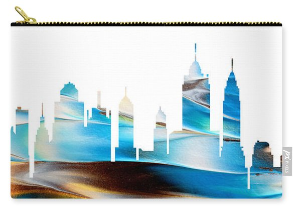 Decorative Skyline Abstract New York P1015a Carry-all Pouch