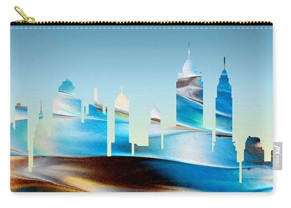 Decorative Skyline Abstract New York P1015b Carry-all Pouch