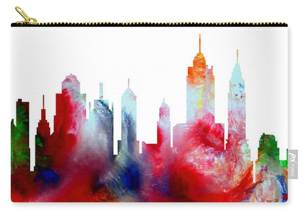 Decorative Skyline Abstract New York P1015c Carry-all Pouch
