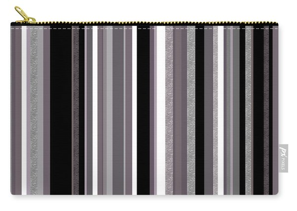 Decorative Stripe - Lavender Gray Carry-all Pouch