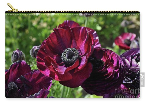 Deep Ranunculus Carry-all Pouch