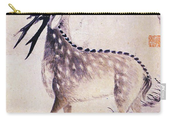 Deer And Pine Carry-all Pouch