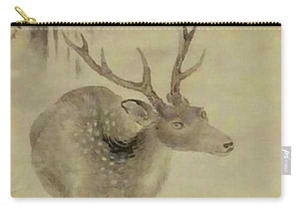 Deer By Mountain Stream Carry-all Pouch