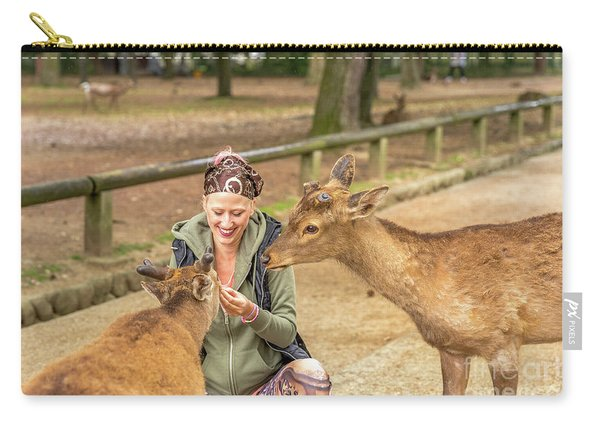Deer Harassing Tourists Carry-all Pouch