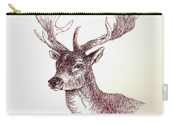 Deer In Ink Carry-all Pouch