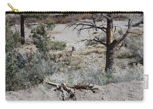 One Deer On A Dry Mountain Carry-all Pouch