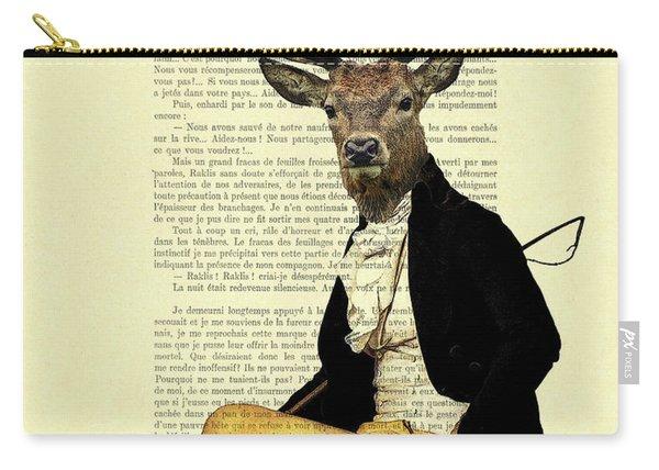 Deer Regency Portrait Carry-all Pouch