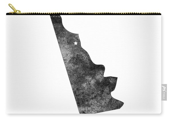 Delaware State Map Art - Grunge Silhouette Carry-all Pouch