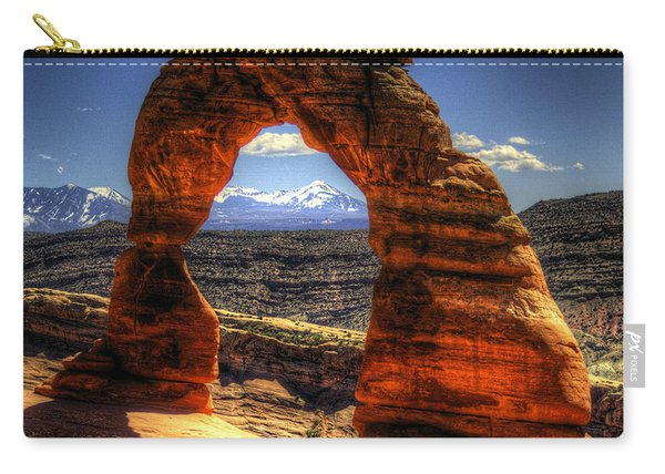Delicate Arch Framing La Sal Mountains Carry-all Pouch