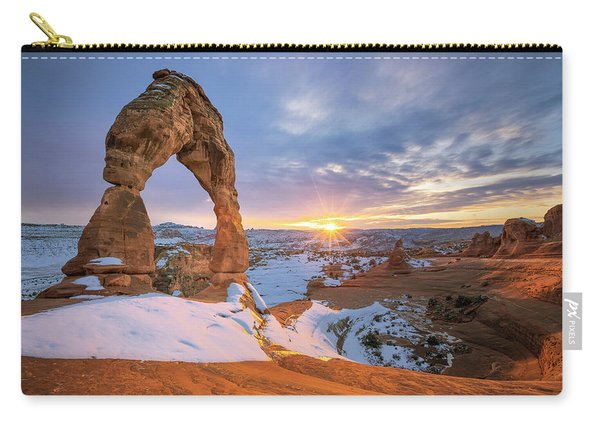 Delicate Arch Winter Carry-all Pouch