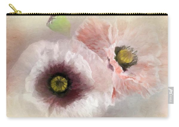 Delicate Pastel Poppies Carry-all Pouch