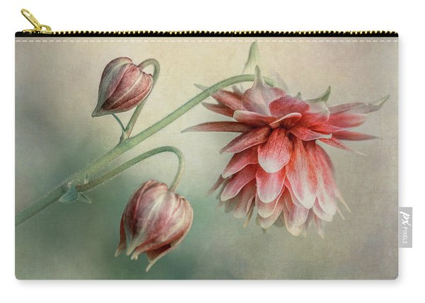 Carry-all Pouch featuring the photograph Delicate Red Columbine by Jaroslaw Blaminsky