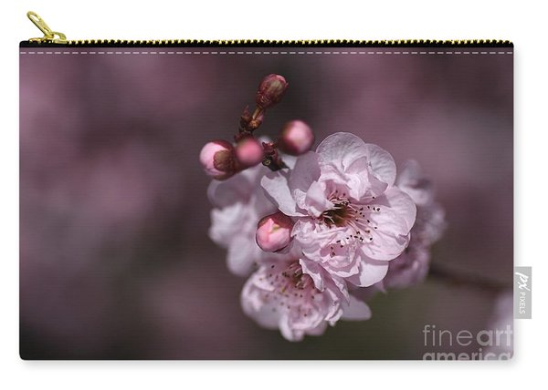 Delightful Pink Prunus Flowers Carry-all Pouch