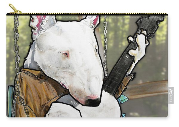 Deliverance Bull Terrier Caricature Art Print Carry-all Pouch