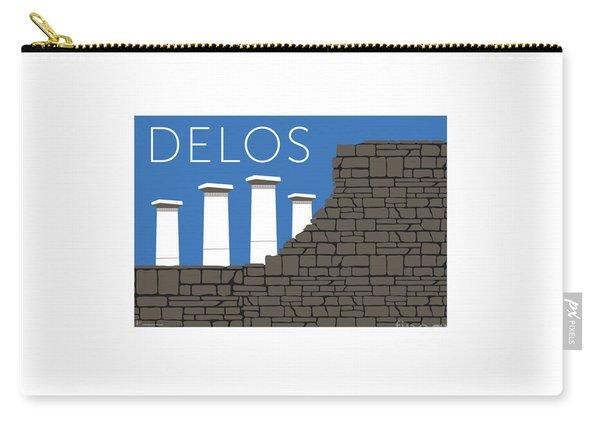 Carry-all Pouch featuring the digital art Delos - Blue by Sam Brennan