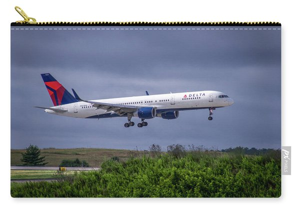 Delta Air Lines 757 Airplane N557nw Art Carry-all Pouch