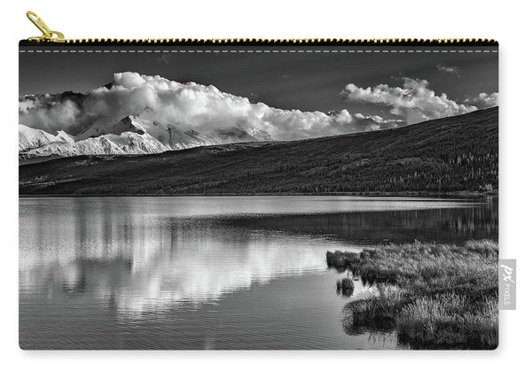 Denali Reflections In Black And White Carry-all Pouch
