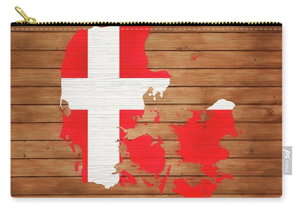 Denmark Rustic Map On Wood Carry-all Pouch