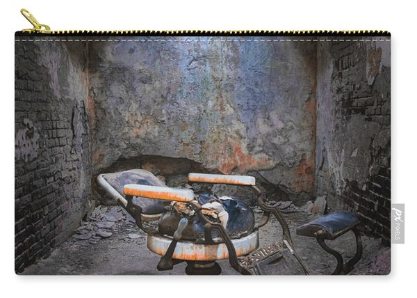 Carry-all Pouch featuring the photograph Dental Chair Esp by Tom Singleton