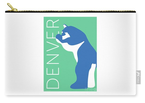 Denver Blue Bear/aqua Carry-all Pouch
