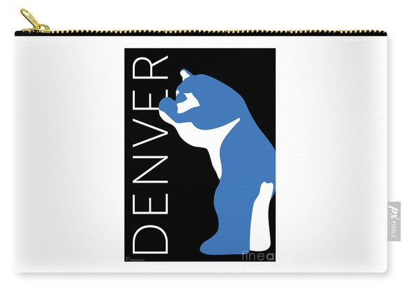 Denver Blue Bear/black Carry-all Pouch