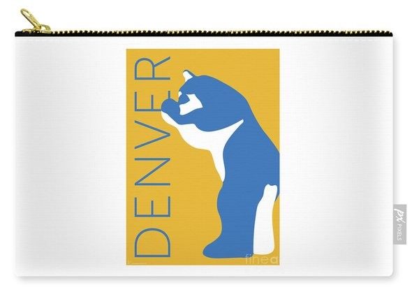 Denver Blue Bear/gold Carry-all Pouch