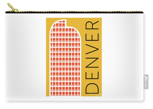 Denver Cash Register Bldg/gold Carry-all Pouch