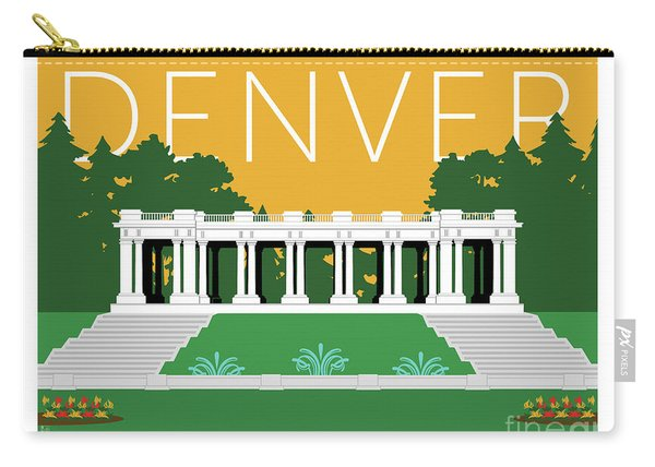 Denver Cheesman Park/gold Carry-all Pouch