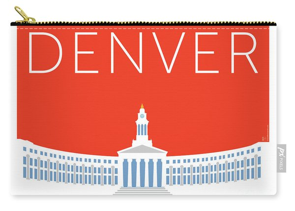 Denver City And County Bldg/orange Carry-all Pouch