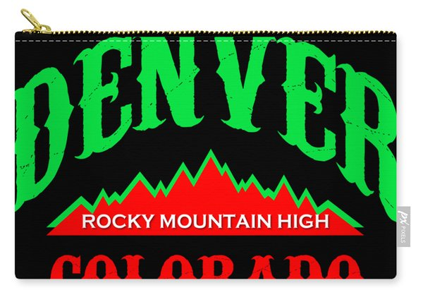 Denver Colorado Rocky Mountain Design Carry-all Pouch