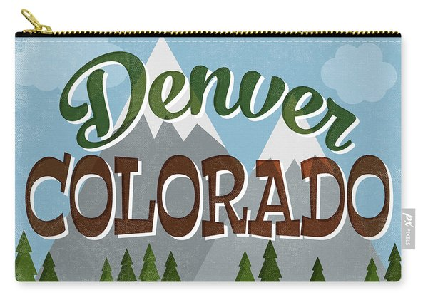 Denver Colorado Snowy Mountains Carry-all Pouch