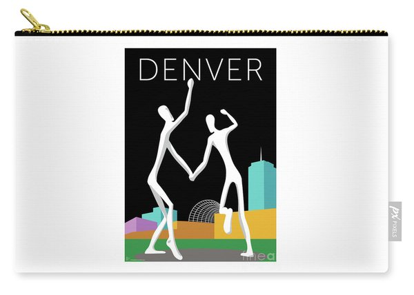 Denver Dancers/black Carry-all Pouch