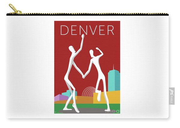 Denver Dancers/maroon Carry-all Pouch