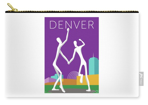 Denver Dancers/purple Carry-all Pouch