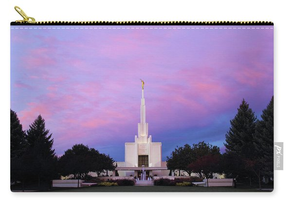 Denver Lds Temple At Sunrise Carry-all Pouch