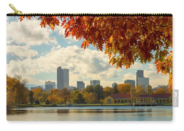 Denver Skyline Fall Foliage View Carry-all Pouch