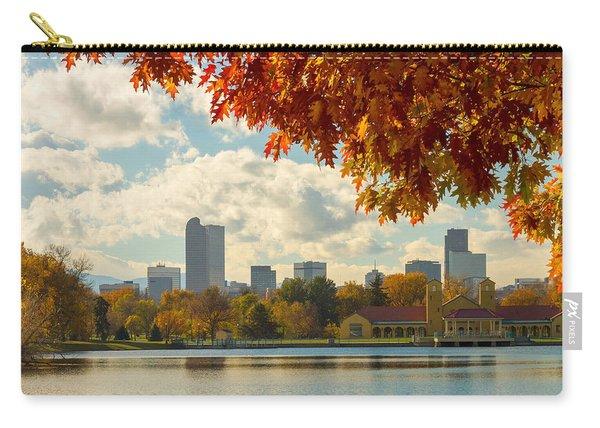 Denver Skyline Fall Foliage View Carry-all Pouch