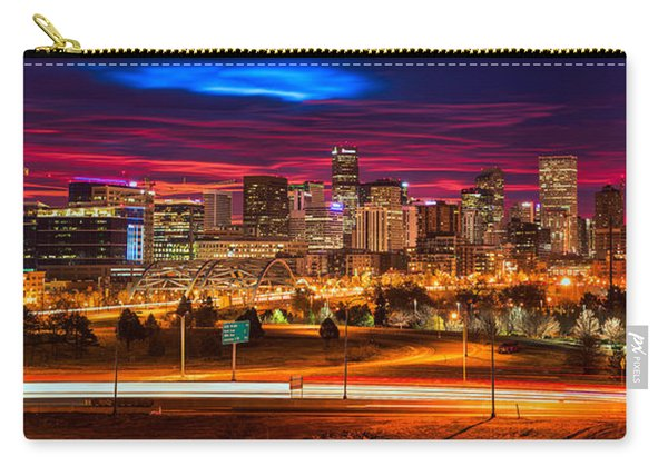 Denver Skyline Sunrise Carry-all Pouch