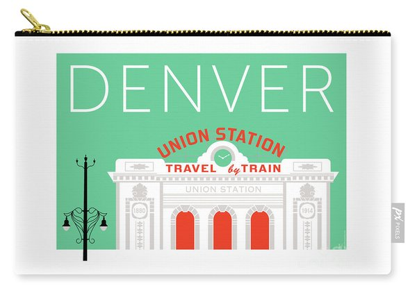 Denver Union Station/aqua Carry-all Pouch
