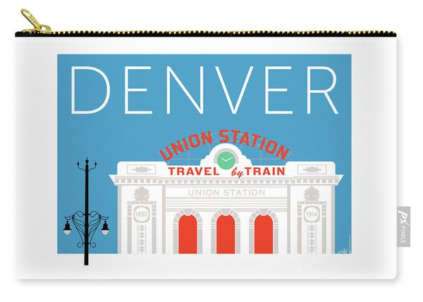 Denver Union Station/blue Carry-all Pouch