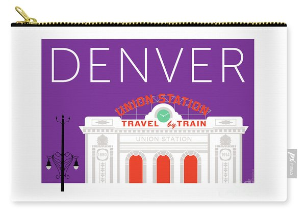 Denver Union Station/purple Carry-all Pouch