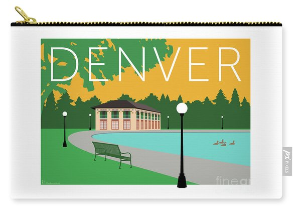 Denver Washington Park/gold Carry-all Pouch