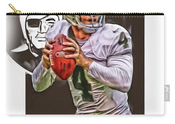 Derek Carr Oakland Raiders Oil Art Carry-all Pouch