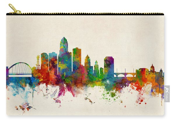 Des Moines Iowa Skyline Carry-all Pouch