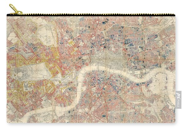 Descriptive Map Of London Poverty - Data Visualization Map - Map Of London - Historic Map Carry-all Pouch