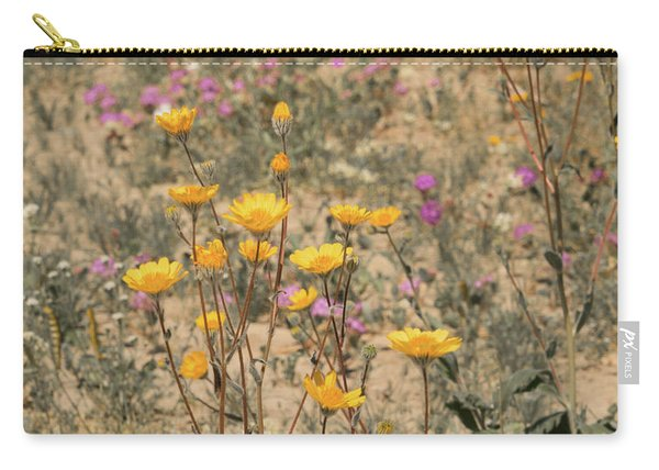 Carry-all Pouch featuring the photograph Desert Daisy by Michael Hope