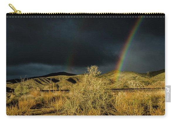 Desert Double Rainbow Carry-all Pouch