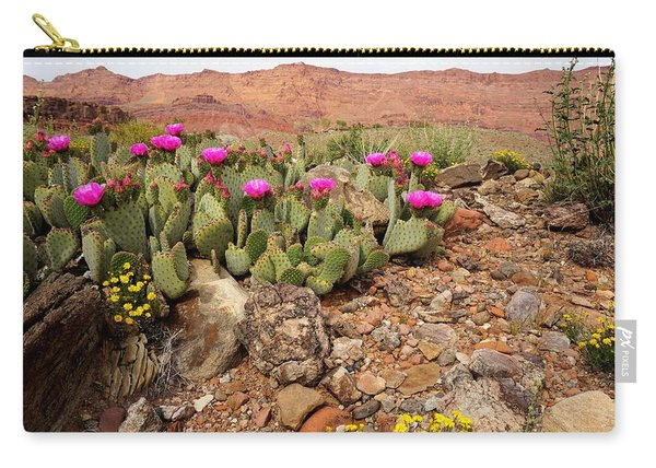 Desert Cactus In Bloom Carry-all Pouch