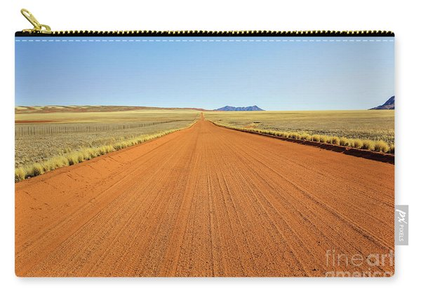 Carry-all Pouch featuring the photograph Desert Road by Benny Marty