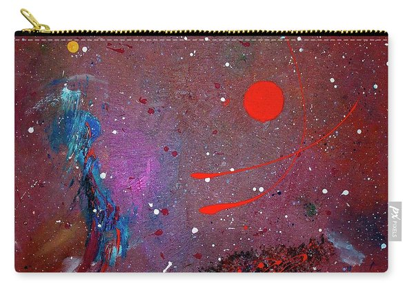 Carry-all Pouch featuring the painting Desert Song by Michael Lucarelli